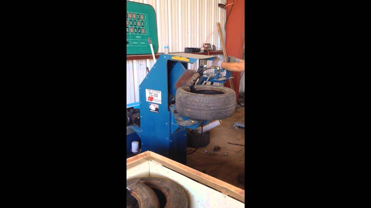 tsi tc  tire cuttingrecycling machine youtube
