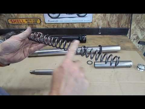 TEC Modifying Street Scrambler forks damping, travel and height