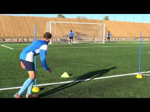 Soccer training drills for forwards • Finishing, Shooting, Agility (HD)