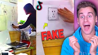 "Art Students Fake ""Realistic Drawings"" On Teacher! (TIK TOK PRANKS)"