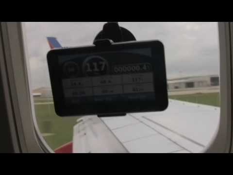 40,000 ft altitude with the Garmin Nuvi 265WT GPS on a commercial flight / plane