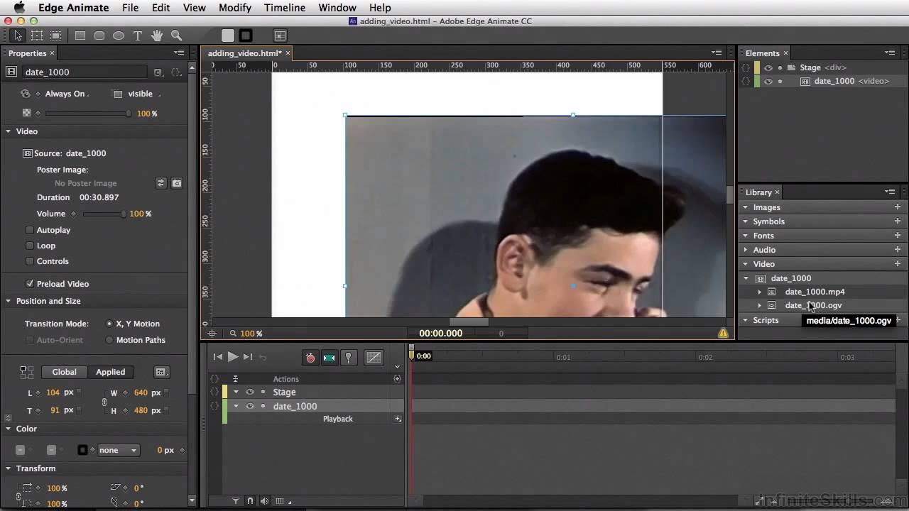 Adobe edge animate cc tutorial importing video youtube baditri Images