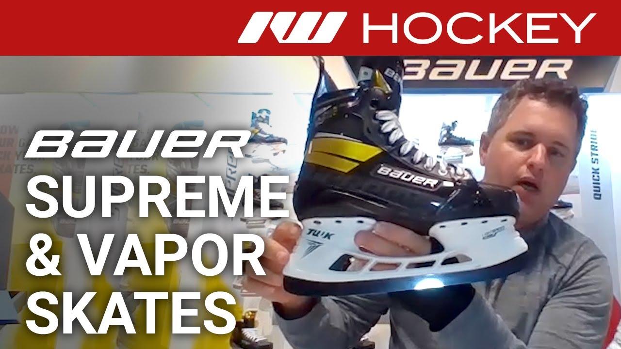 Bauer Supreme Vapor Skate Lines