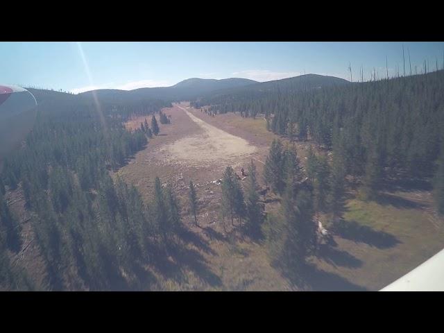 Cold Meadows Idaho landing downhill.