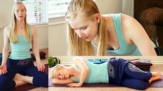 Beginners Yoga For Relaxation #1, Stress Relief, Flexibility & Pain Relief, Bedtime Sleep Routine
