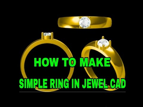 HOW TO MAKE SIMPLE RING IN - JEWEL CAD || JEWELLERY DESIGNS ||