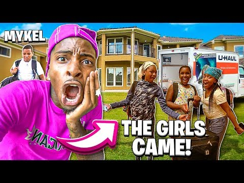 THE GIRLS CAME TO MY NEW HOUSE & MYKEL FINALLY MOVED IN!❤️ - YouTube