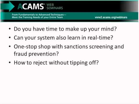 Changing the AML Game from Reporting to Rejecting Suspicions by ACAMS –  Association of Certified Anti-Money Laundering Specialists