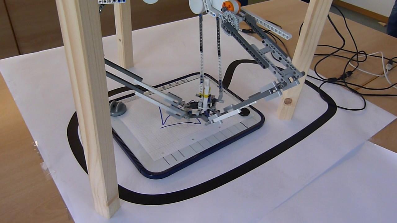 Delta Roboter Aus Dem Lego Praktikum 2017 An Der Ovgu Magdeburg Malt Das Haus Des Nikolaus