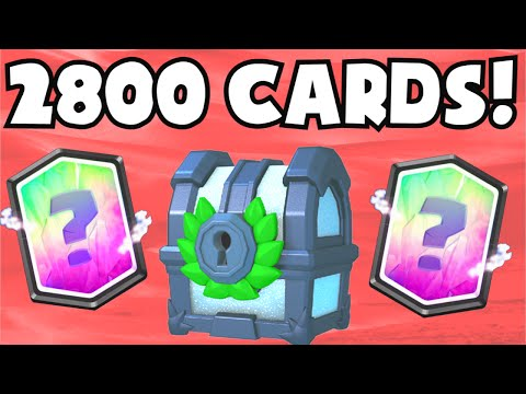 Clash Royale 250,000 GEMS TOURNAMENT CHEST OPENING (2800 CARDS) GUARANTEED LEGENDARY CARDS UNLOCKED
