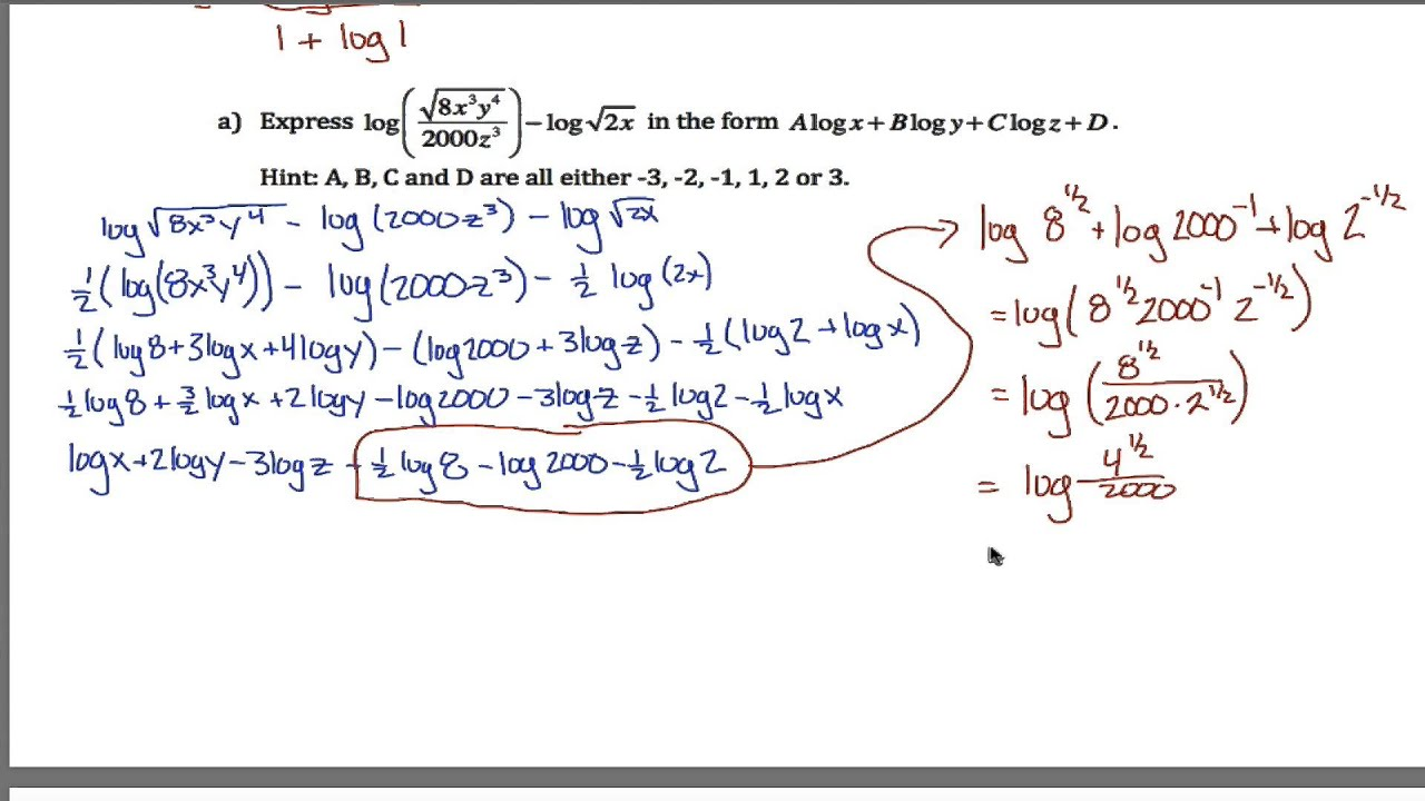 worksheet. Log Equations Worksheet. Grass Fedjp Worksheet Study Site