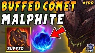 BUFFED Comet Malphite HARD CARRIES Team! Slaughtering My Main | Iron IV to Diamond #100