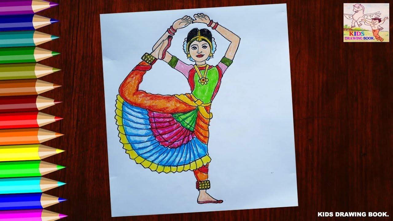 Kids Drawing Book Bharatnatyam Dance Pose Drawing For Kids Hd New 2019 Youtube