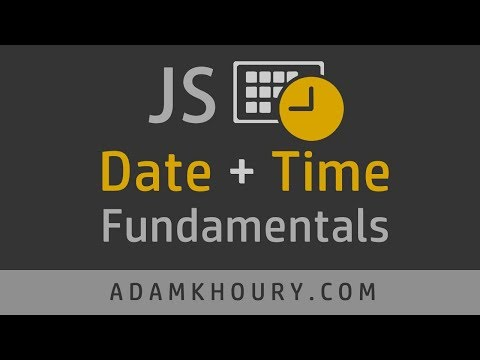 JavaScript Date Time Object Tutorial thumbnail