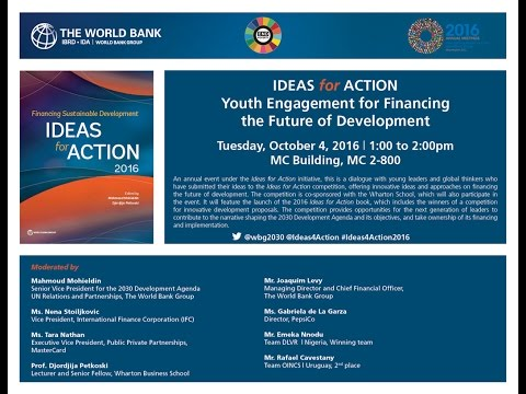 Ideas for Action at the 2016 IMF & World Bank Annual Meetings