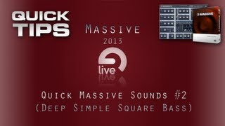 Massive Tutorial: QMS #2 - Simple Square Bass Hit [Free Patch]