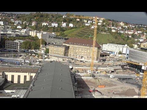 TURMBLICK auf die Stuttgart 21 Baustelle | 21.10.2017 | #S21