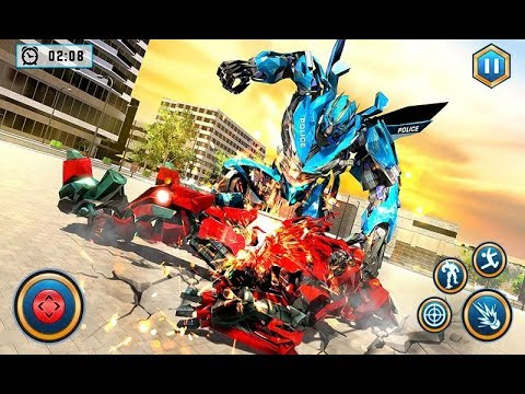 Real Police Car Chase Robot Transforming | Android Gameplay (Cartoon Games Network)