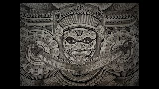 Theyyam Doodle Pencil Drawing | Art of Theyyam | Ritual Form of Worship | Time Lapse | Rahul Sekhar