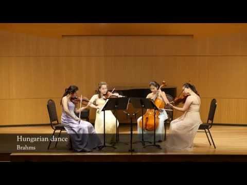 Johannes Brahms - Hungarian Dance by Ivy String Quartet