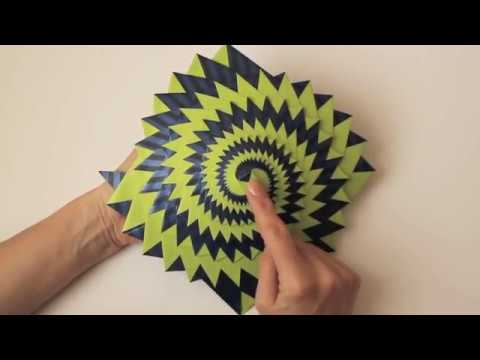 how to make curlicue kinetic origami