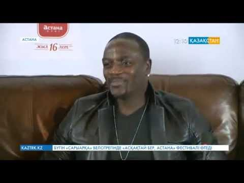 AKON in Astana, Kazakhstan Press Conference