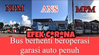 Gambar Bus Npm Ans Mpm Berhenti Beroperasi-garasi Bus Auto Penuh