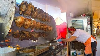 The Queen of ROTISSERIE Roasts Ribs, Loins, Sausages and More. Italy Street Food
