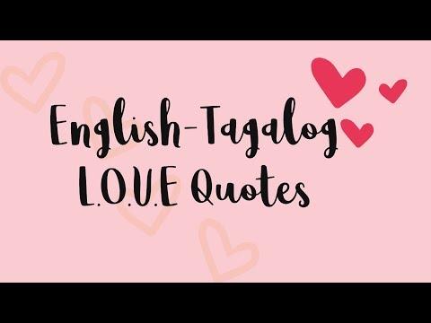 Learn Useful English-Tagalog Love Quotes || English-Tagalog Translation