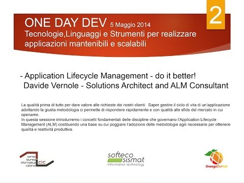 Application Lifecycle Management - Davide Vernole - Solutions Architect and ALM Consultant