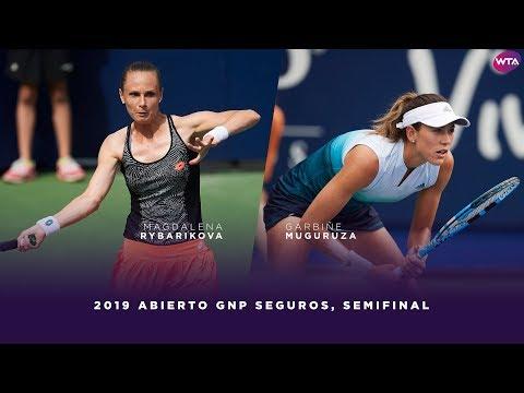 Magdalena Rybarikova vs. Garbiñe Muguruza | 2019 Monterrey Open Semifinal | WTA Highlights
