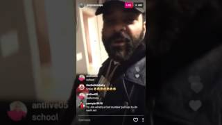 Jim jones on instagram live, then cursing out people in rage