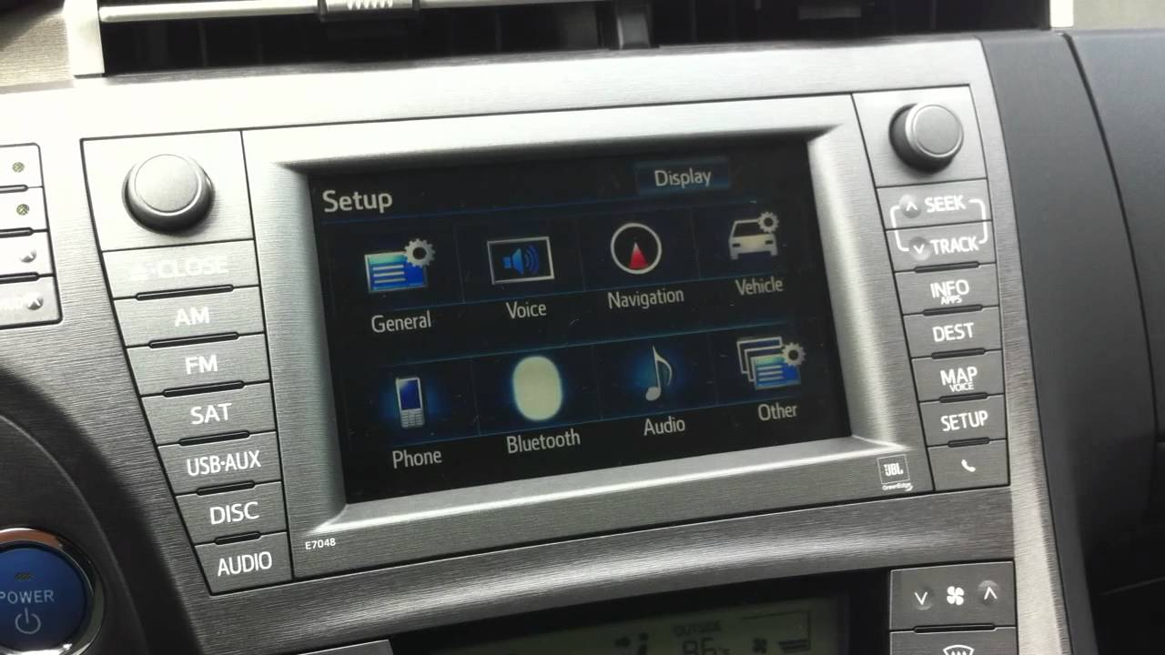 2012 Prius HDD Navigation system issues - YouTube