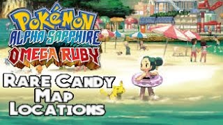 Pokemon Omega Ruby & Alpha Sapphire - Rare Candy Locations (Most)