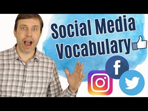 Useful Vocabulary for Social Media (Facebook, Instagram, & Twitter)