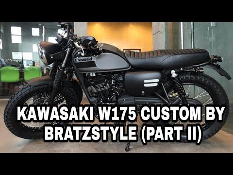 Kawasaki W175 Custom By Bratzstyle Part Ii Youtube