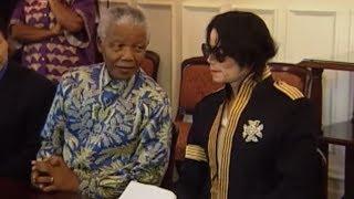 Michael Jackson meets Nelson Mandela