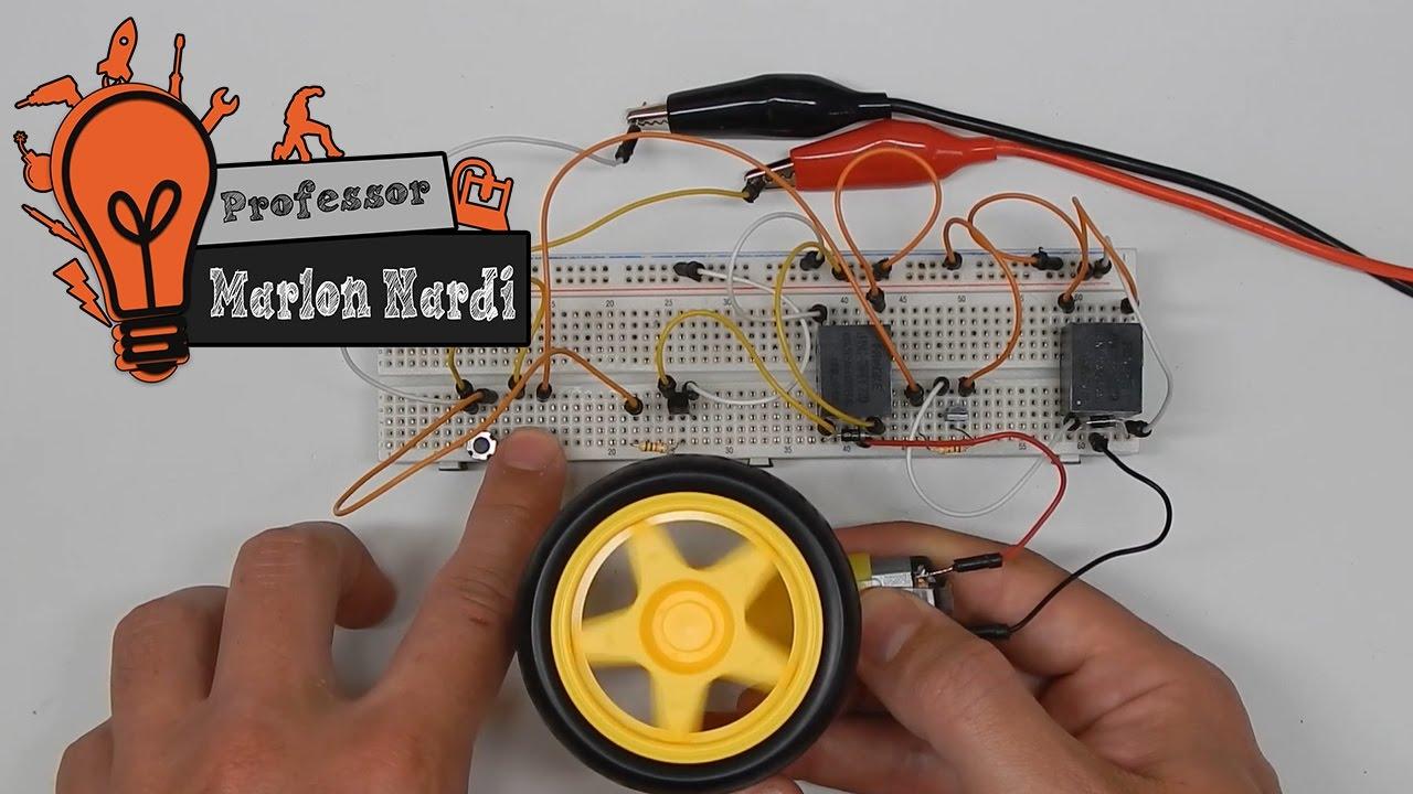 Circuito Simples : Circuito simples para reversão de motor dc robôs