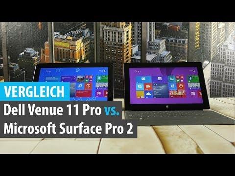 Vergleich: Dell Venue 11 Pro vs. Microsoft Surface Pro 2 | tabtech.de