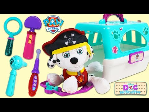 PAW PATROL Pirate Marshall Gets Sea Sick and Visits Doc McStuffins