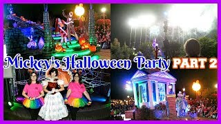 MICKEY'S HALLOWEEN PARTY PT. 2! Fireworks & Parade - Disneyland Vlog #69 ~ VLOGTOBER 19