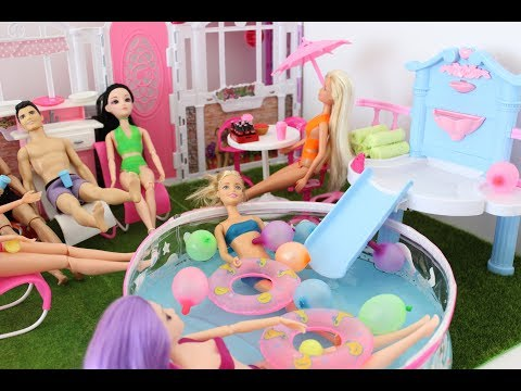 Thumbnail: Barbie summer fontaine swimming pool party with friends **TiaTia