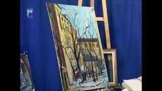 """Уроки рисования (№ 159). Рисуем картину """"Московский дворик"""""""