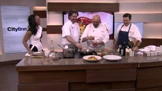 Tagliatelle with lobster in a saffron cream sauce