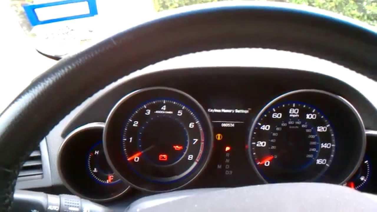 Reset oil life Acura MDX - YouTube