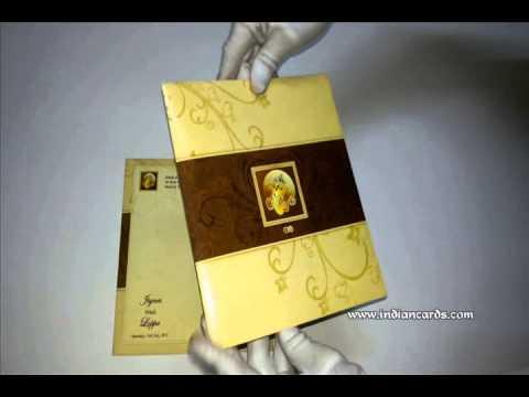 W 5262 Multicolor Offset Indian Cards Hindu Wedding Invitations Designer