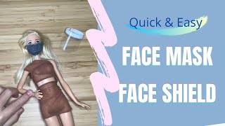 DIY How to Make a Super Easy Doll Face Mask and Face Shied