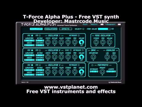 T-Force Alpha Plus - Free VST synth - vstplanet com