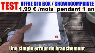 test offre sfr box / showroomprive à 1,99 € attention au branchement..modem nb6
