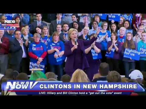 FNN: Bill Clinton and Hillary Clinton Speak in New Hampshire
